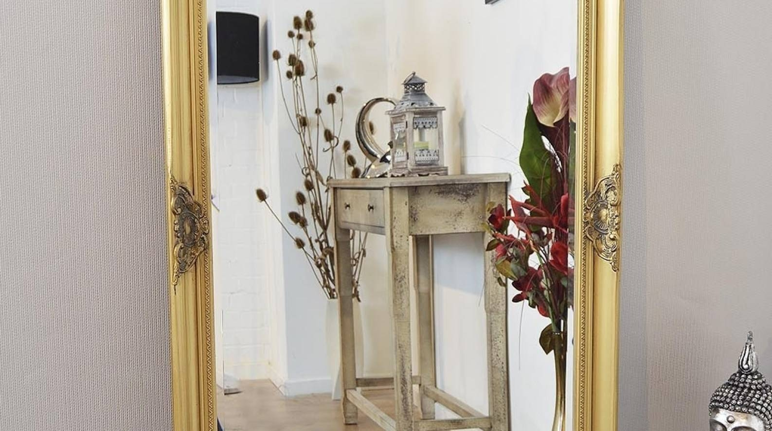 Mirror : Wonderful Extra Large Gold Decorative Antique Full Length Pertaining To Antique Full Length Wall Mirrors (View 11 of 15)