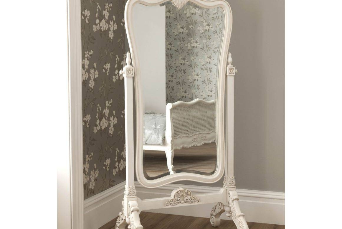 Mirror : Wonderful French Floor Mirrors Leaning Floor Mirror in Cream Floor Standing Mirrors (Image 14 of 15)