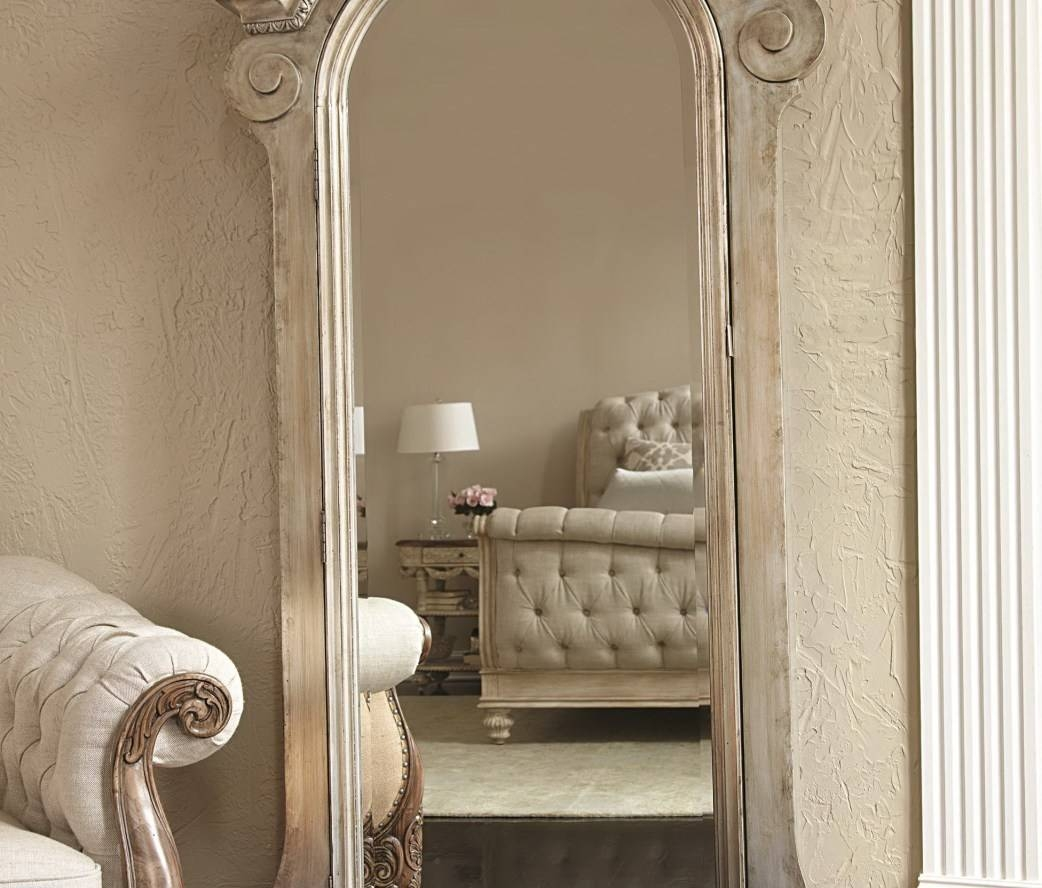 Mirror : Wonderful French Floor Mirrors Leaning Floor Mirror regarding Cream Floor Standing Mirrors (Image 15 of 15)
