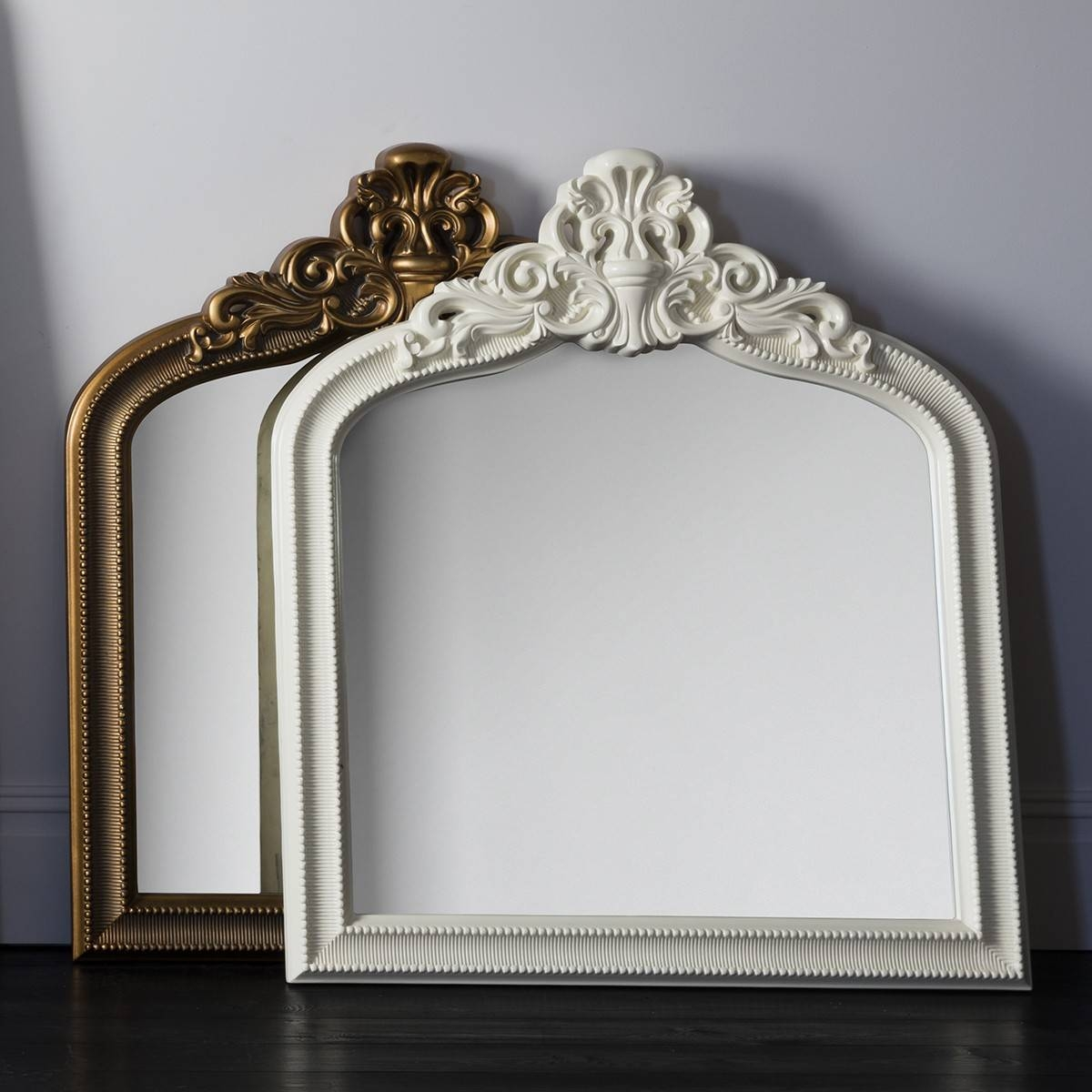 Mirror : Wonderful White Overmantle Mirror Mirror Outlet Has The with regard to Mantle Mirrors (Image 15 of 15)