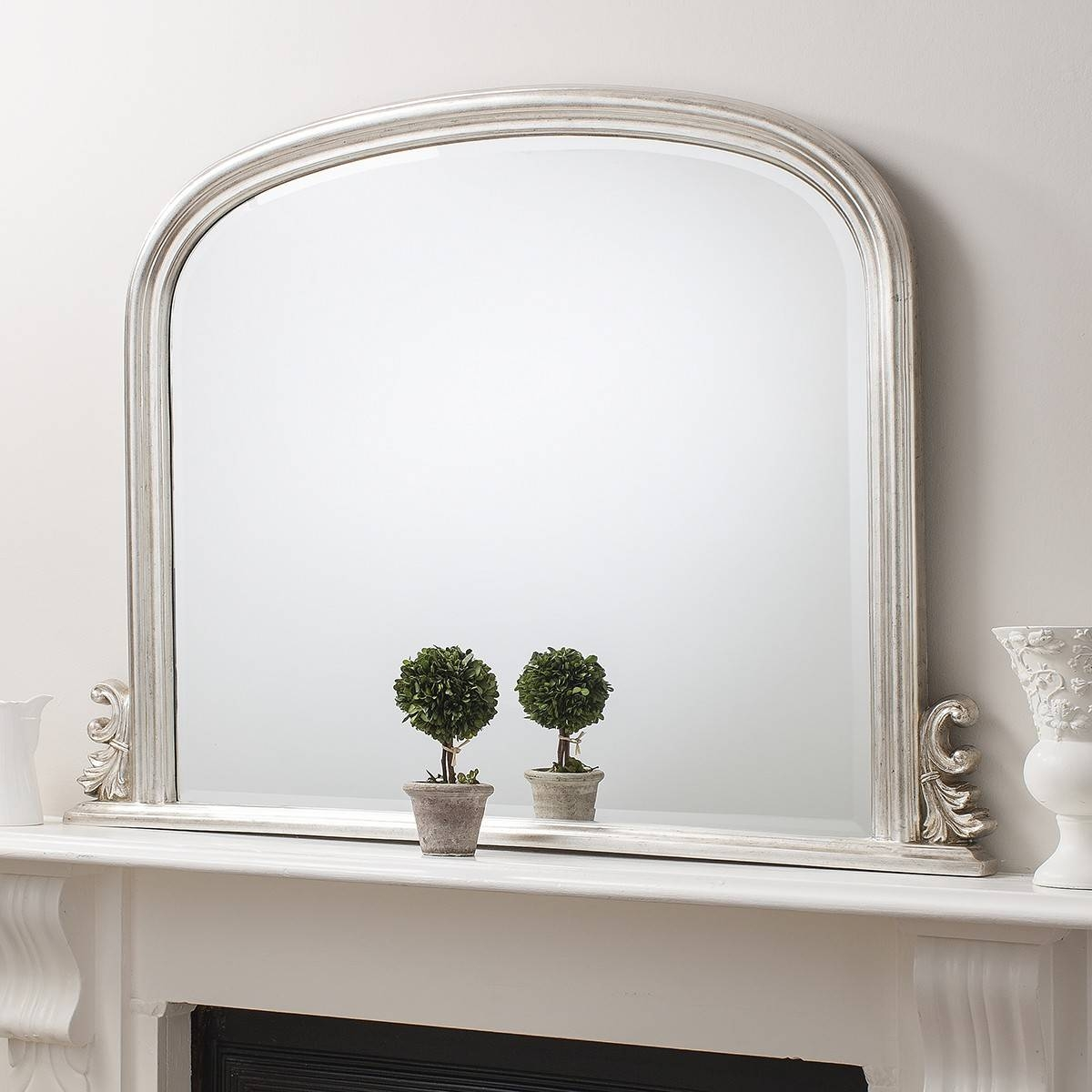 Mirror : Wonderful White Overmantle Mirror Mirror Outlet Has The with regard to Over Mantel Mirrors (Image 11 of 15)