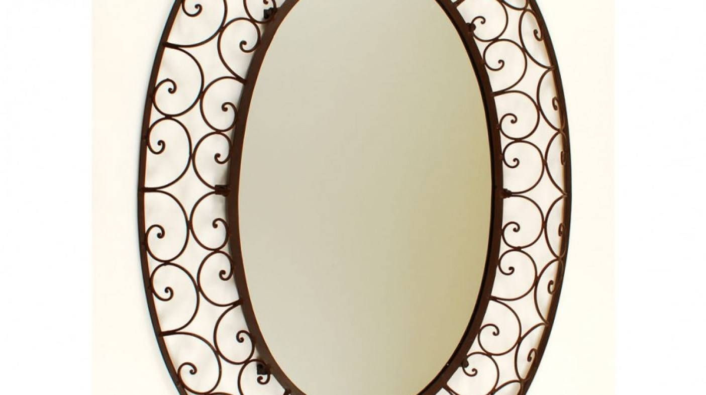 Mirror : Wrought Iron Awesome Rod Iron Mirrors 33 Artistic And Inside Rod Iron Mirrors (View 13 of 15)