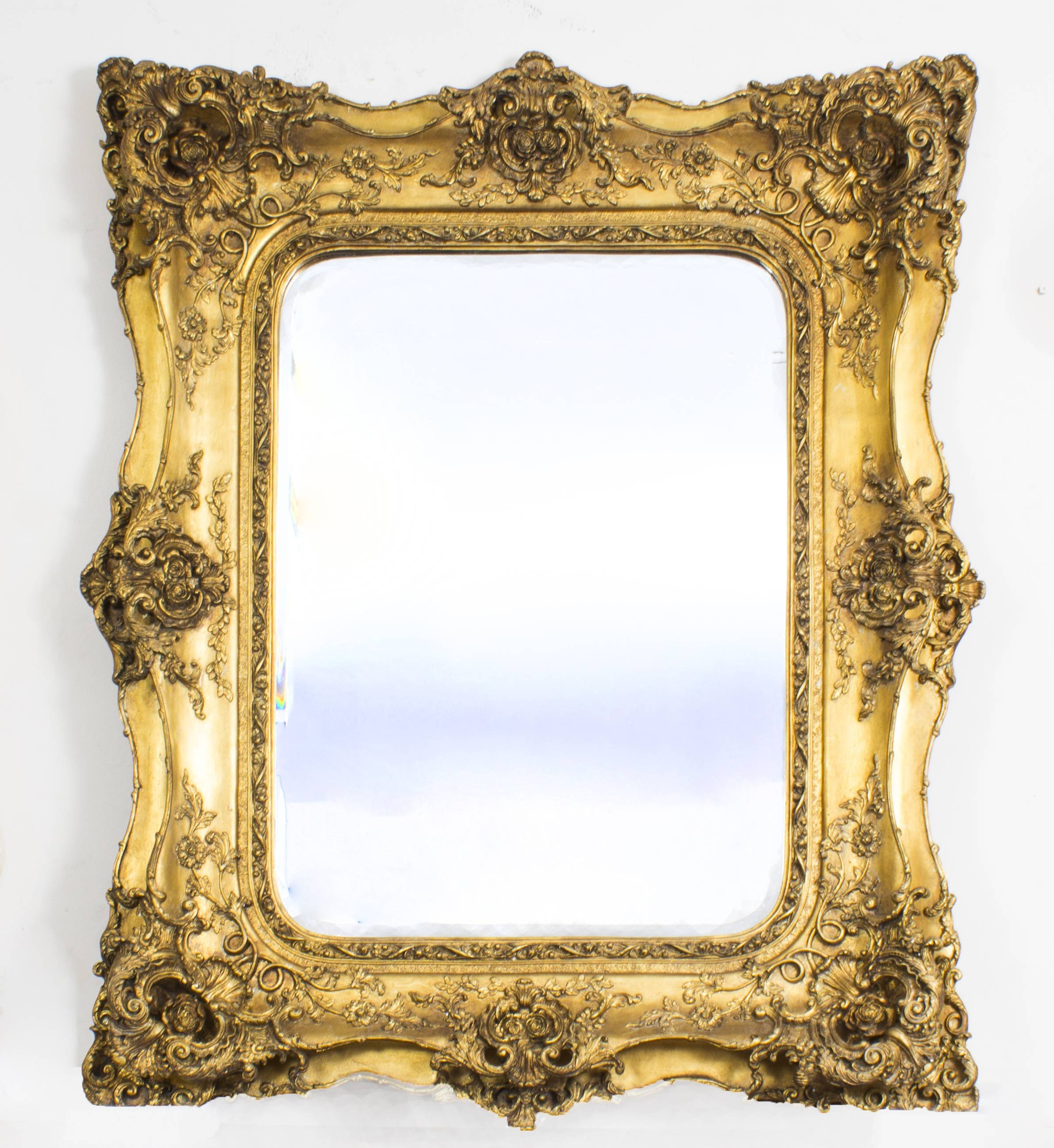 Mirror : X Large Antique Silver Shab Chic Ornate Decorative Wall For Silver Gilded Mirrors (View 12 of 15)