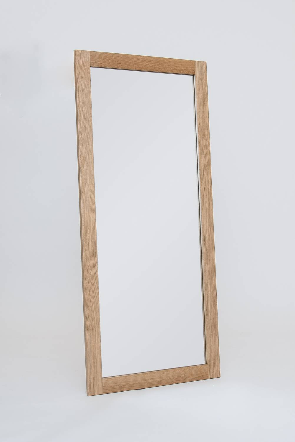 Mirror : Yabou Large Solid Oak Mirror With Bevelled Glass 115 60Cm in Free Standing Oak Mirrors (Image 15 of 15)