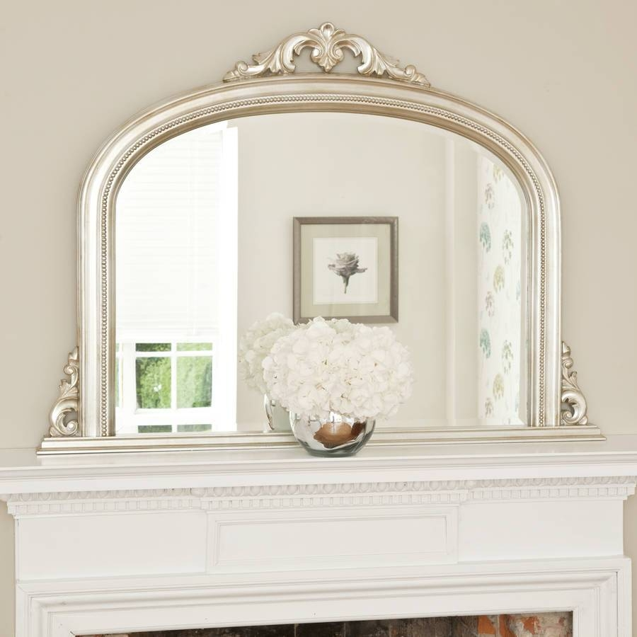 Mirror : Z Beautiful Champagne Silver Mirror Pearlette Wall Mirror within Champagne Silver Mirrors (Image 8 of 15)