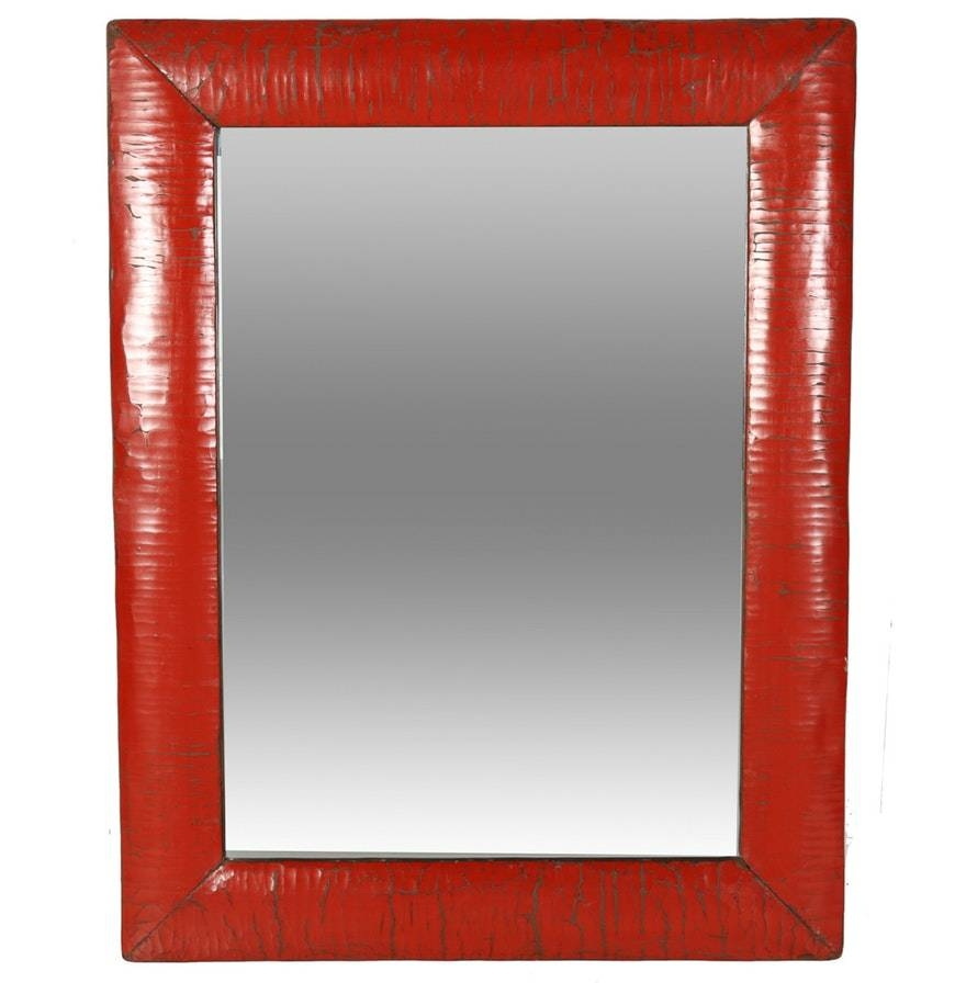 Best 15 Of Red Wall Mirrors