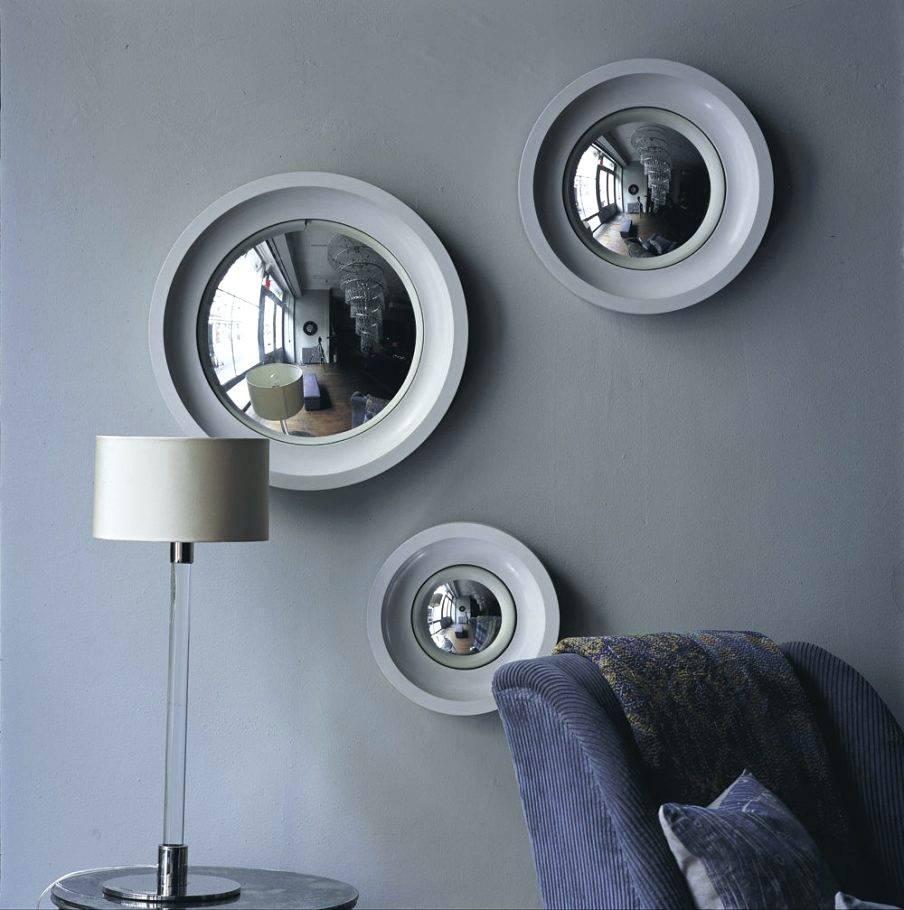 Mirrors : Image Of Round Decorative Convex Mirror Decorative Inside White Convex Mirrors (View 5 of 15)