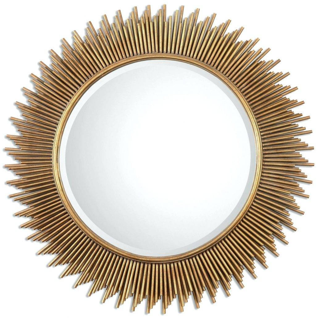 Mirrors : Round Gold Mirrors Decorative Round Gold Mirrors Pertaining To Large Round Gold Mirrors (View 7 of 15)
