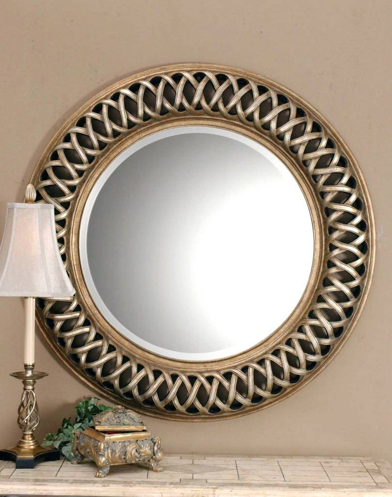 Mirrors : Round Gold Mirrors Decorative Round Gold Mirrors Throughout Large Round Gold Mirrors (View 2 of 15)