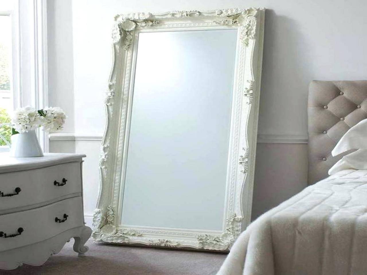 Modrest Beth Modern Walnut Floor Mirrorfloor Mirrors For Bedroom Within Long Vintage Mirrors (View 12 of 15)