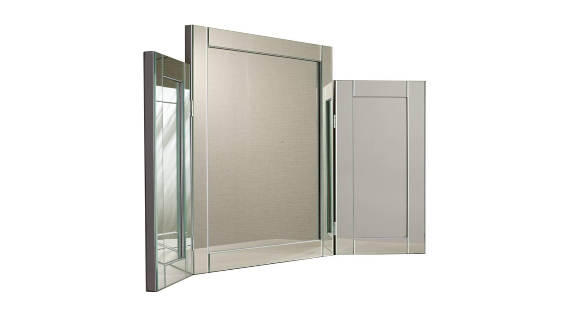 Morris Mirrors, Walton Triple Mirror, Buy Online At Luxdeco Within Triple Mirrors (View 8 of 15)