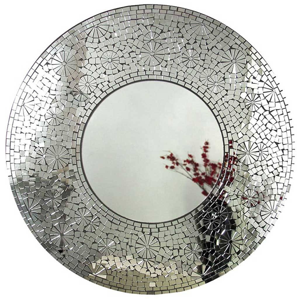 Mosaic Round Mirror – Hydes Furniture & Interiors Throughout Round Mosaic Mirrors (View 5 of 15)