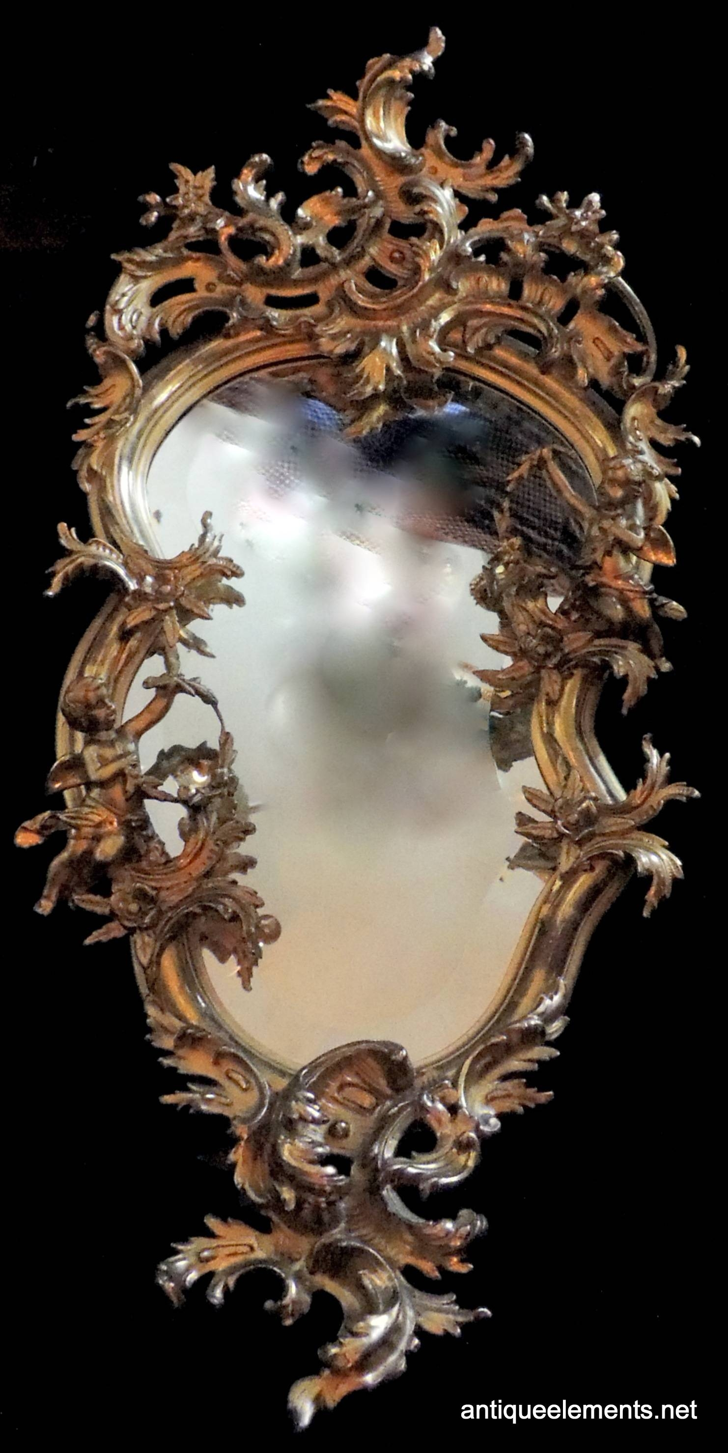 Mr147 19th Century French Gilt Cherub Rococo Mirror | Antique Elements Intended For French Rococo Mirrors (View 5 of 15)