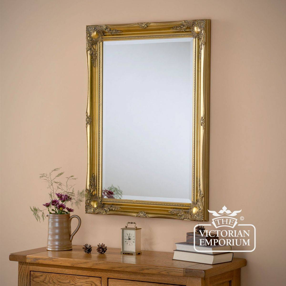 Newport Mirror 168Cm X 107Cm With Gold Frame | Mirrors Throughout Victorian Mirrors (Photo 13 of 15)