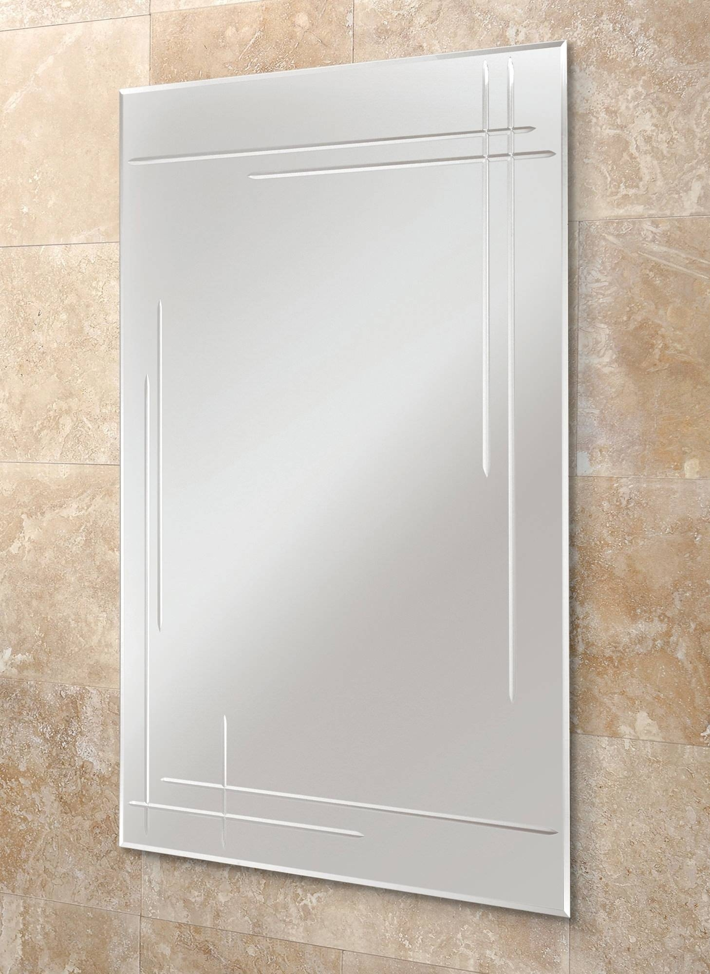 Opus Rectangular Bevelled Edge Mirror 500 X 700Mm throughout Bevelled Edge Mirrors (Image 14 of 15)