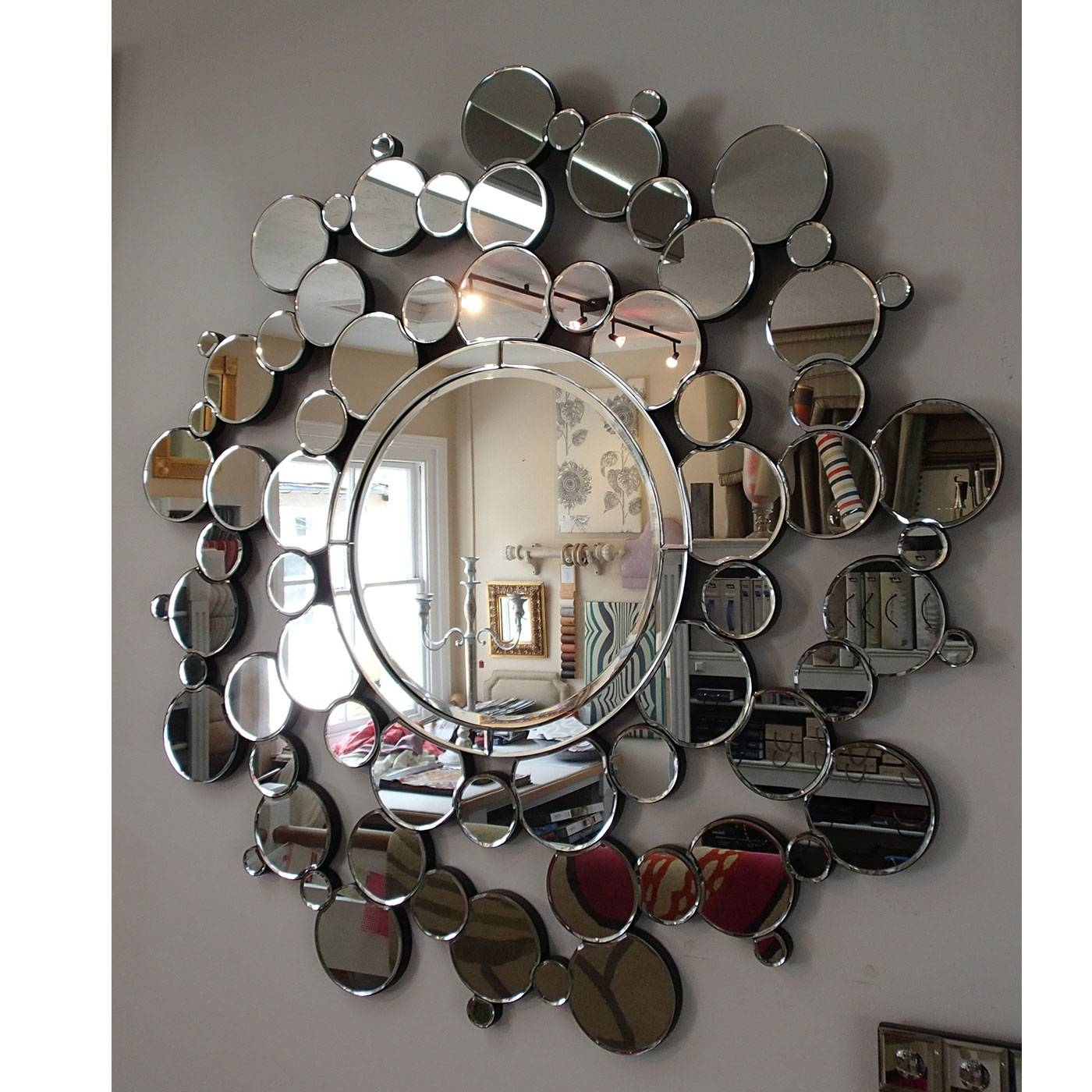 Oreon Interiors | Bubble Mirror Art No 760 Ex Display Pertaining To Large Bubble Mirrors (View 1 of 15)