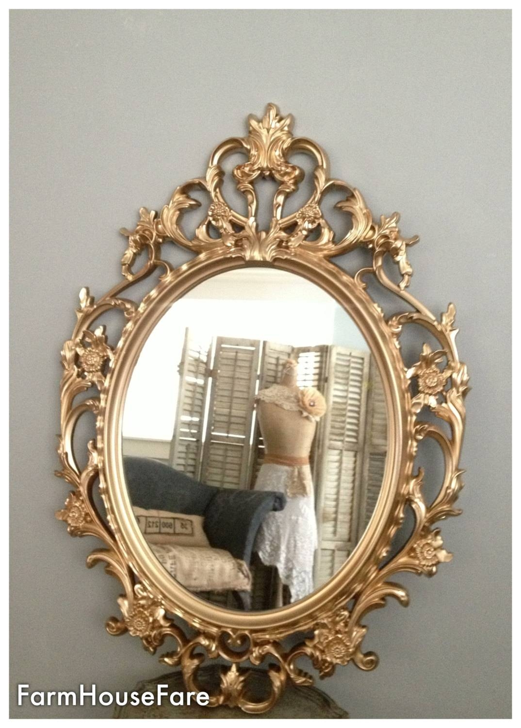 Ornate Mirrors Baroque Mirror Large Gold Wall Mirror Within Baroque Gold Mirrors (View 4 of 15)