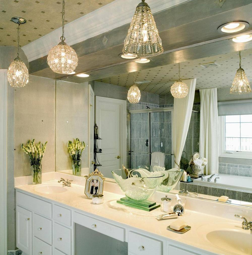 Outstanding Light Fixtures For Bathrooms 2017 Decor – Wall Light Regarding Ceiling Light Mirrors (View 14 of 15)