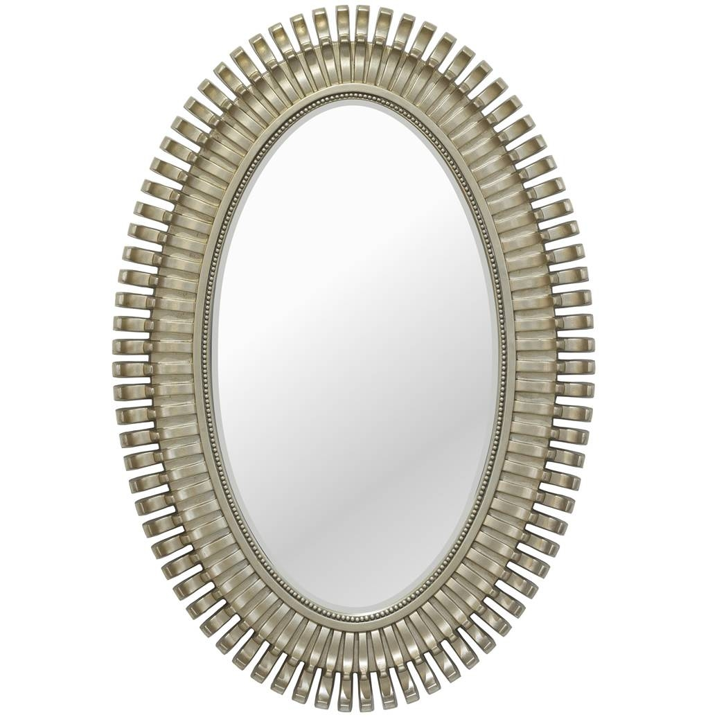 Oval Champagne Silver Mirror | Mirrors.ie in Champagne Silver Mirrors (Image 10 of 15)