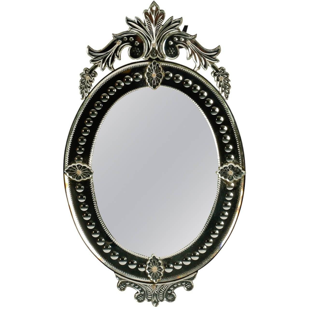Oval Venetian Mirror With Crown At 1stdibs Intended For Venetian Oval Mirrors (View 5 of 15)