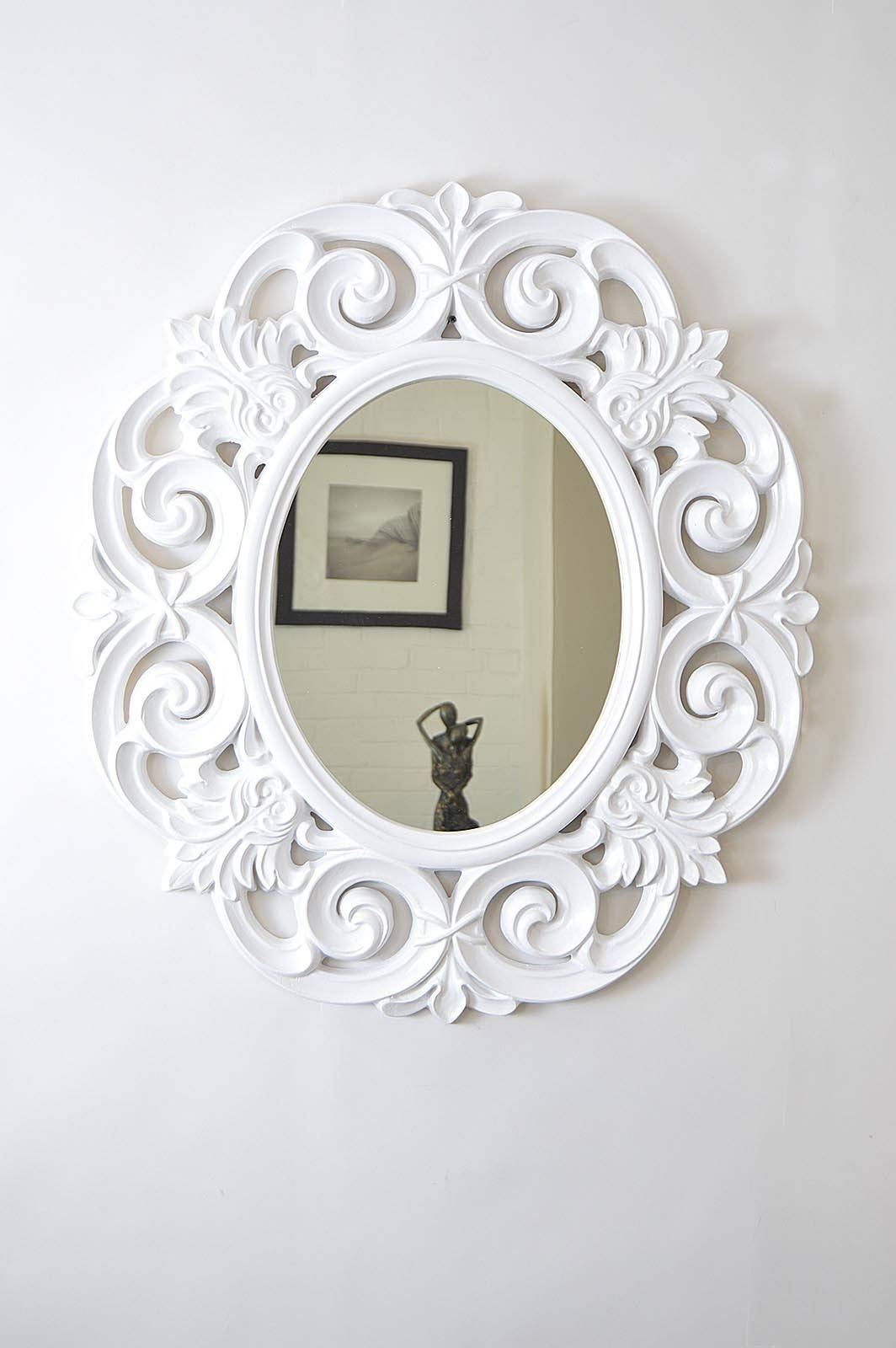 Oval Wall Mirror White — All Home Design Solutions : Oval Wall for White Oval Wall Mirrors (Image 10 of 15)
