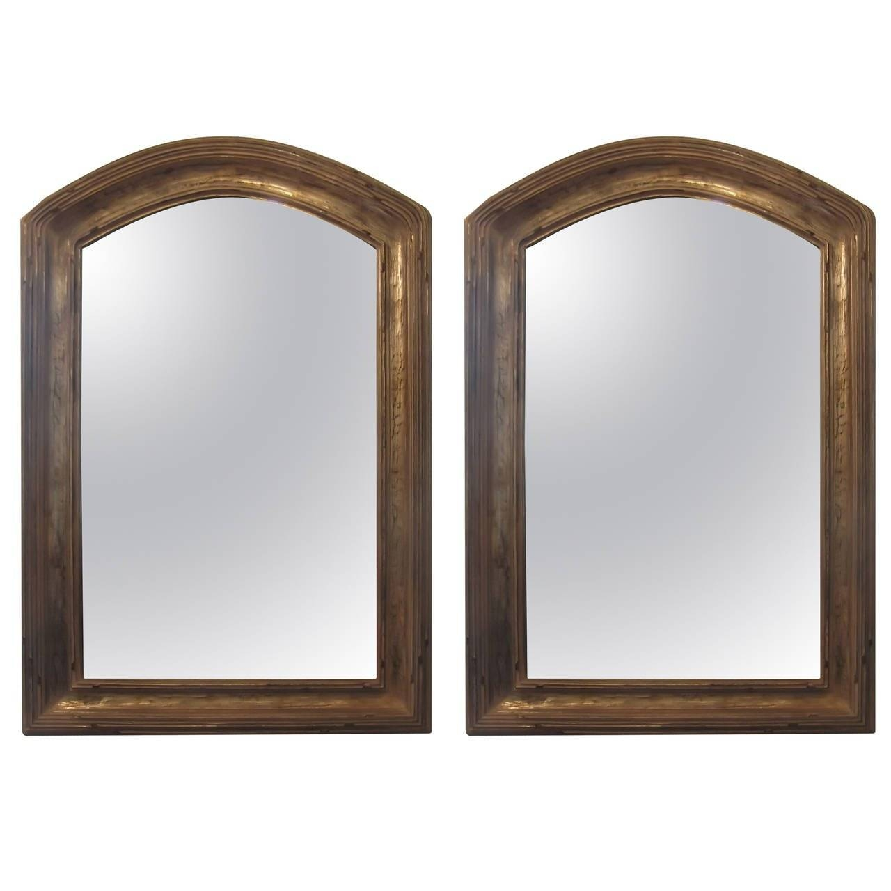 Pair Of Giltwood Arched Top Mirrors At 1Stdibs regarding Curved Top Mirrors (Image 14 of 15)