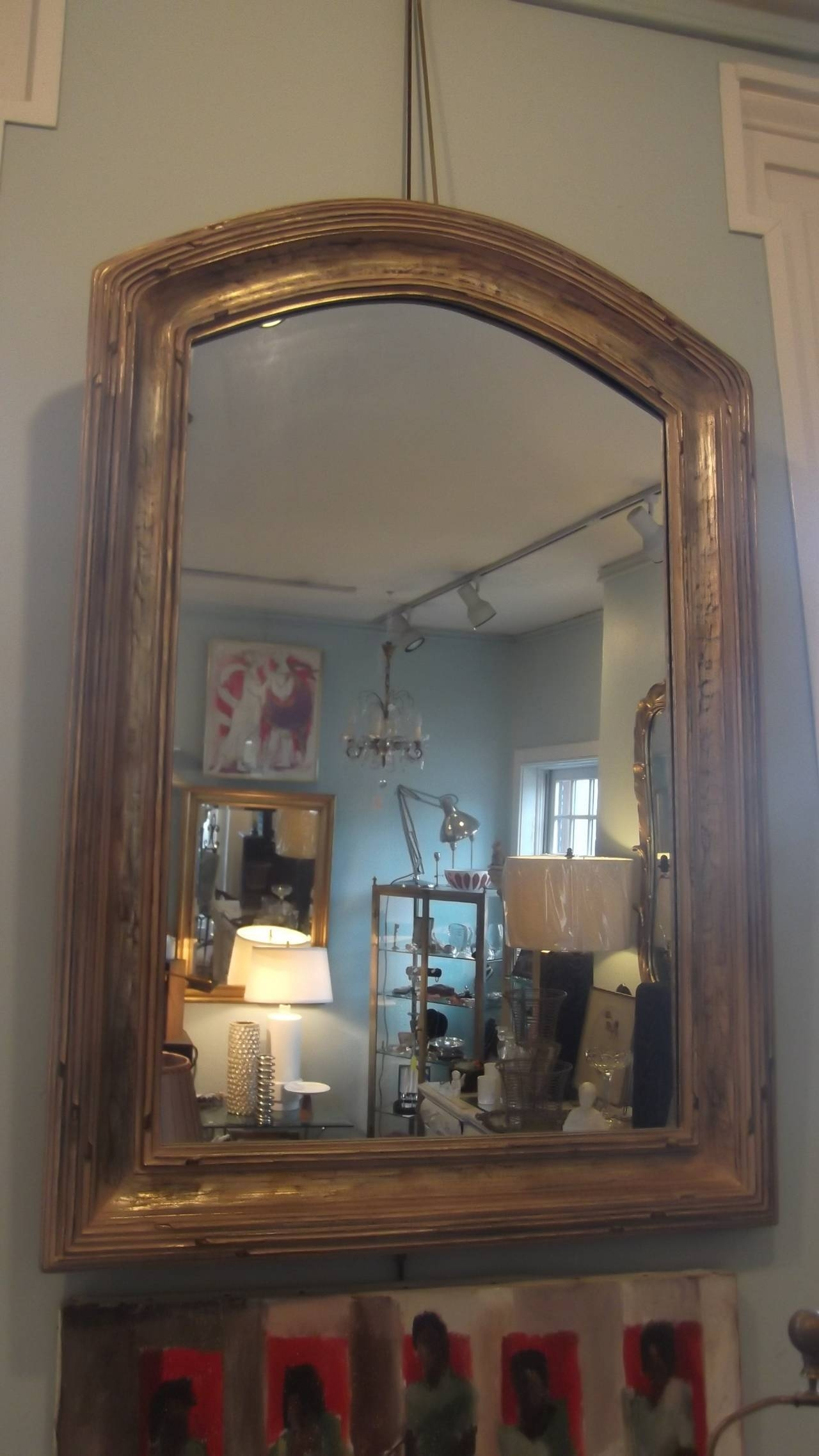 Pair Of Giltwood Arched Top Mirrors At 1Stdibs with regard to Curved Top Mirrors (Image 15 of 15)