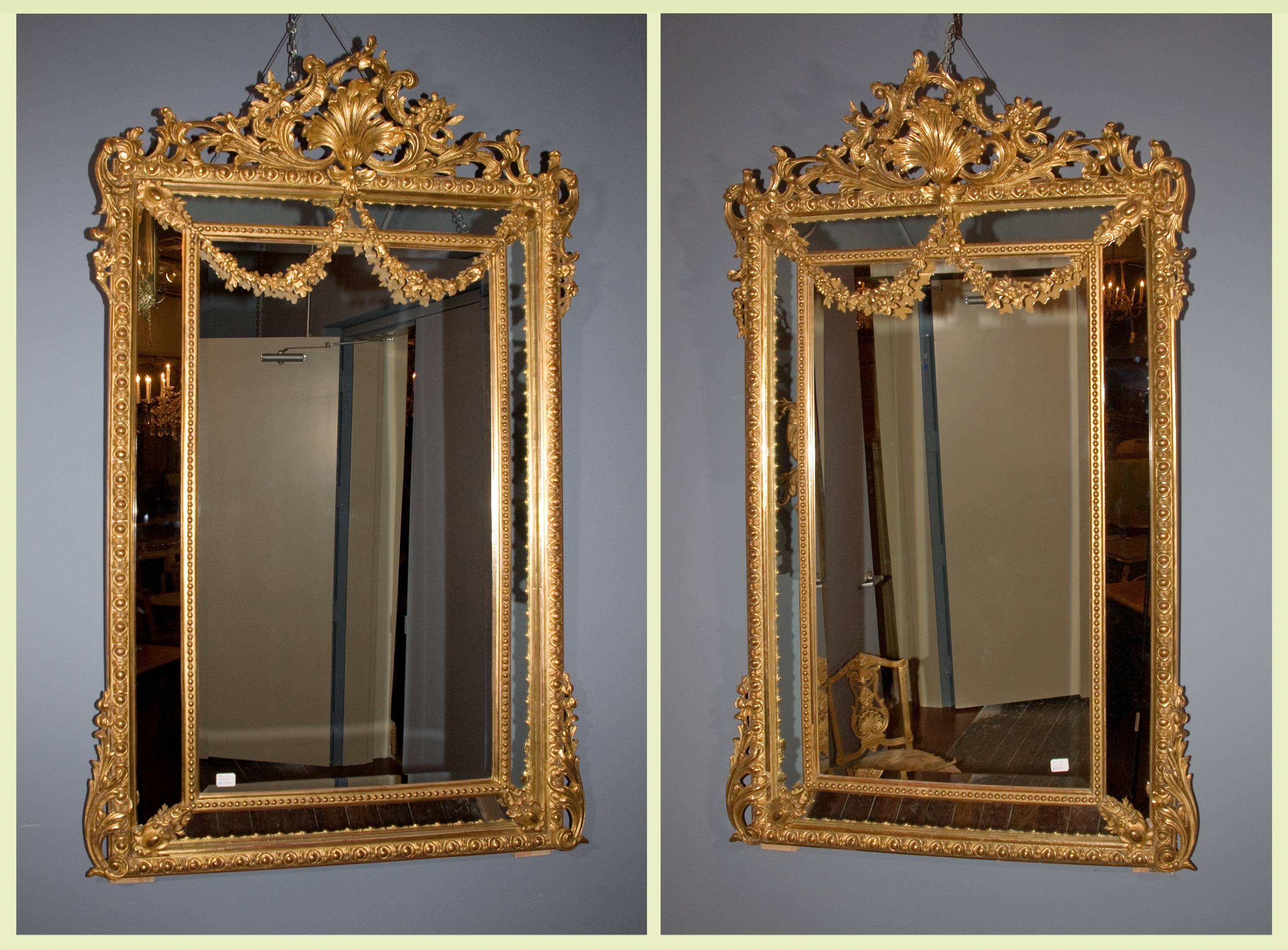 Pair Of Napoleon Iii Mirrors | French Antique Shop Pertaining To French Antique Mirrors (View 15 of 15)
