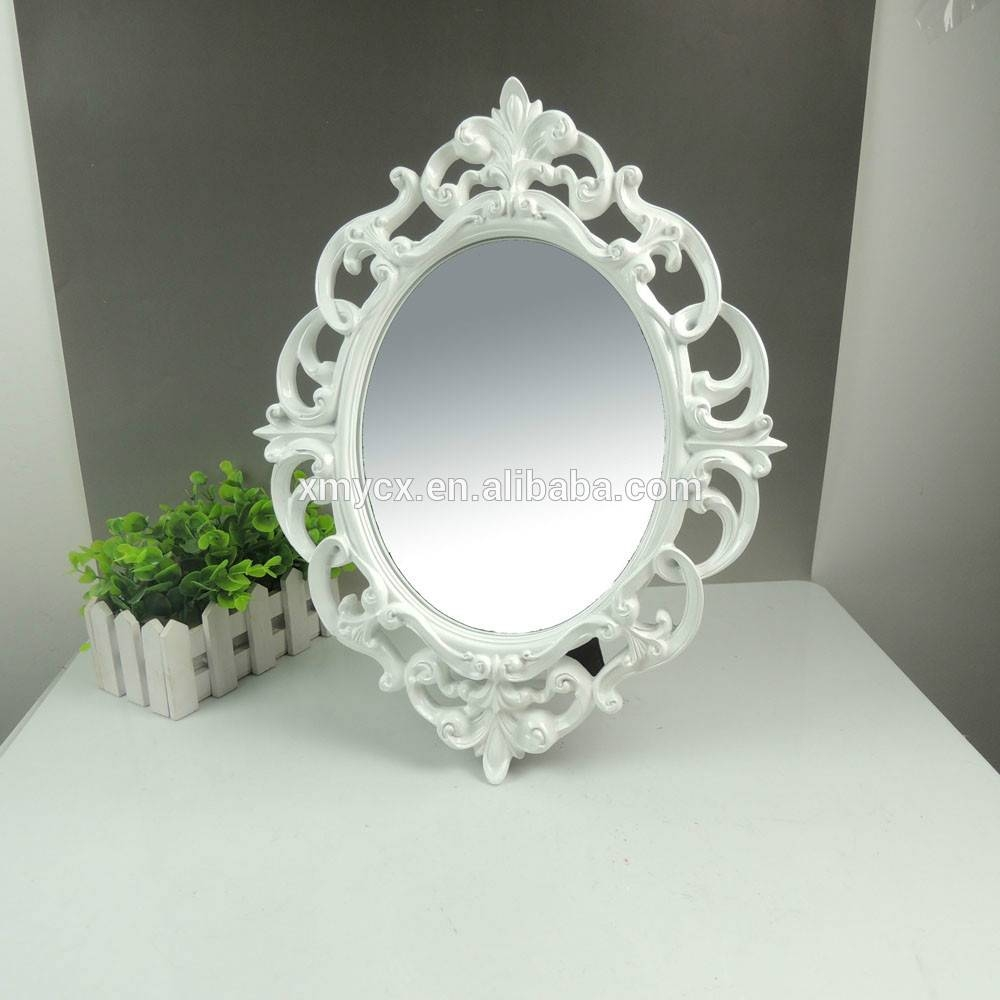 Polyresin Ornate Oval White Designer Mirror Frame – Buy Designer Regarding Oval White Mirrors (View 14 of 15)