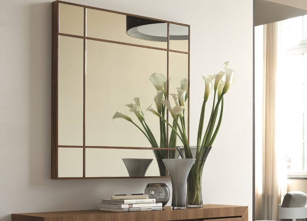 Porada Four Seasons Square Mirror – Porada Furniture At Go Modern Throughout Large Square Mirrors (View 11 of 15)