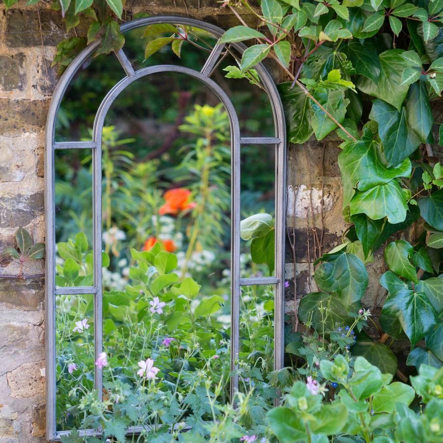Provence Secret Garden Outdoor Mirrorthe Flower Studio Inside Outside Garden Mirrors (View 3 of 15)