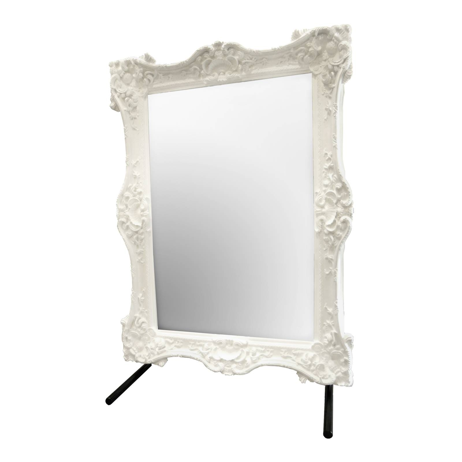 R Grand Baroque Floor Mirror White – Surripui For Baroque Floor Mirrors (View 2 of 15)