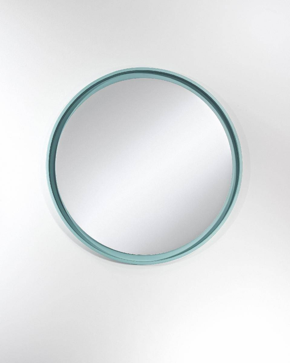 Radius Round Large Blue Mirror – Deknudt Mirrors (framed Plain In Blue Round Mirrors (View 15 of 15)