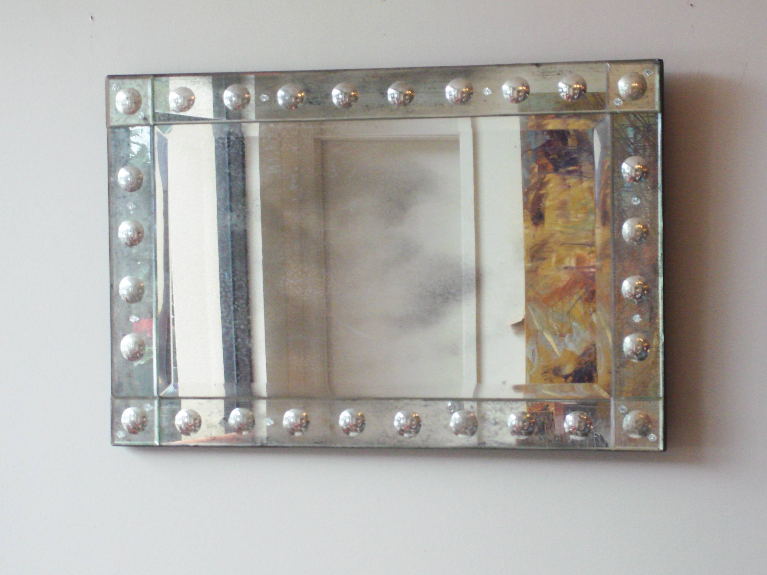 Rectangular Antiqued Aged Venetian Mirror – Mecox Gardens With Regard To Venetian Bubble Mirrors (View 3 of 15)
