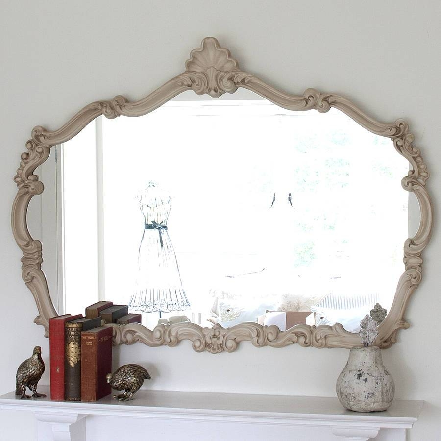 Renaissance Ivory Overmantel Mirrordecorative Mirrors Online in Over Mantel Mirrors (Image 13 of 15)