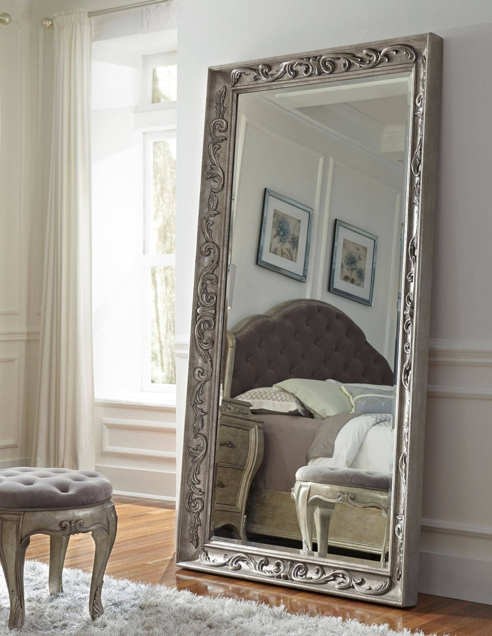 Rhianna Silver Patina Floor Mirror From Pulaski 788112#16 Office Regarding Baroque Floor Mirrors (View 14 of 15)