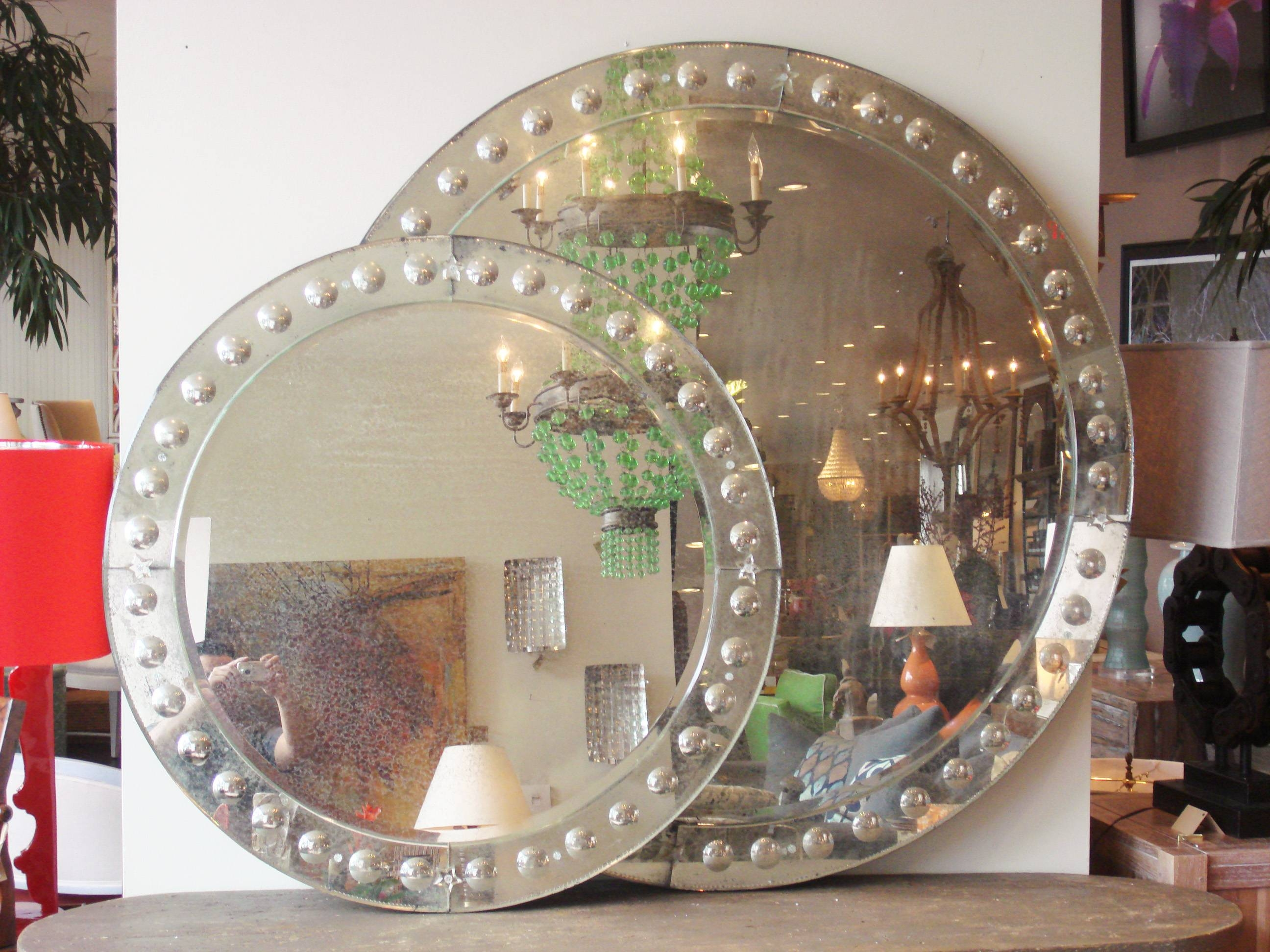 Round Glass Mirror – Beautiful Glass Intended For Venetian Bubble Mirrors (View 7 of 15)