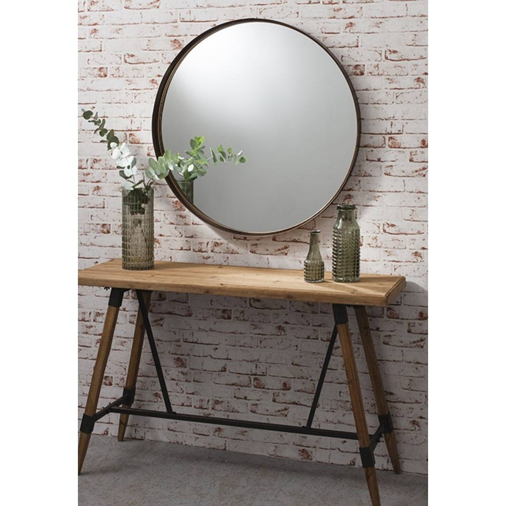 Round Mirror: Greystoke Bronze Metal Mirror | Select Mirrors intended for Large Metal Mirrors (Image 13 of 15)
