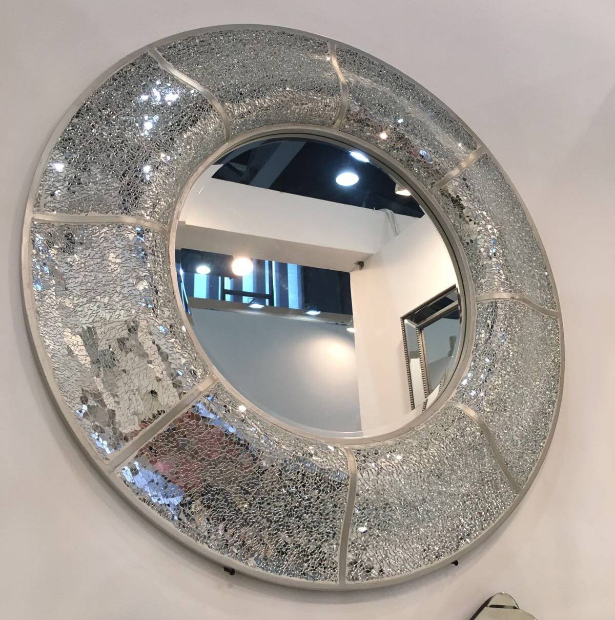 Round Mosaic Mirror – Smart Art Direct Intended For Round Mosaic Mirrors (View 4 of 15)