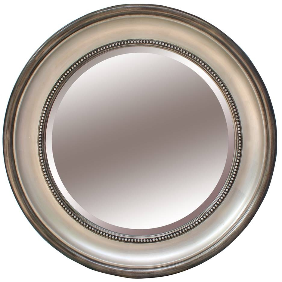 Round Pewter Silver Mirror Diameter | Mirrors.ie in Silver Round Mirrors (Image 8 of 15)