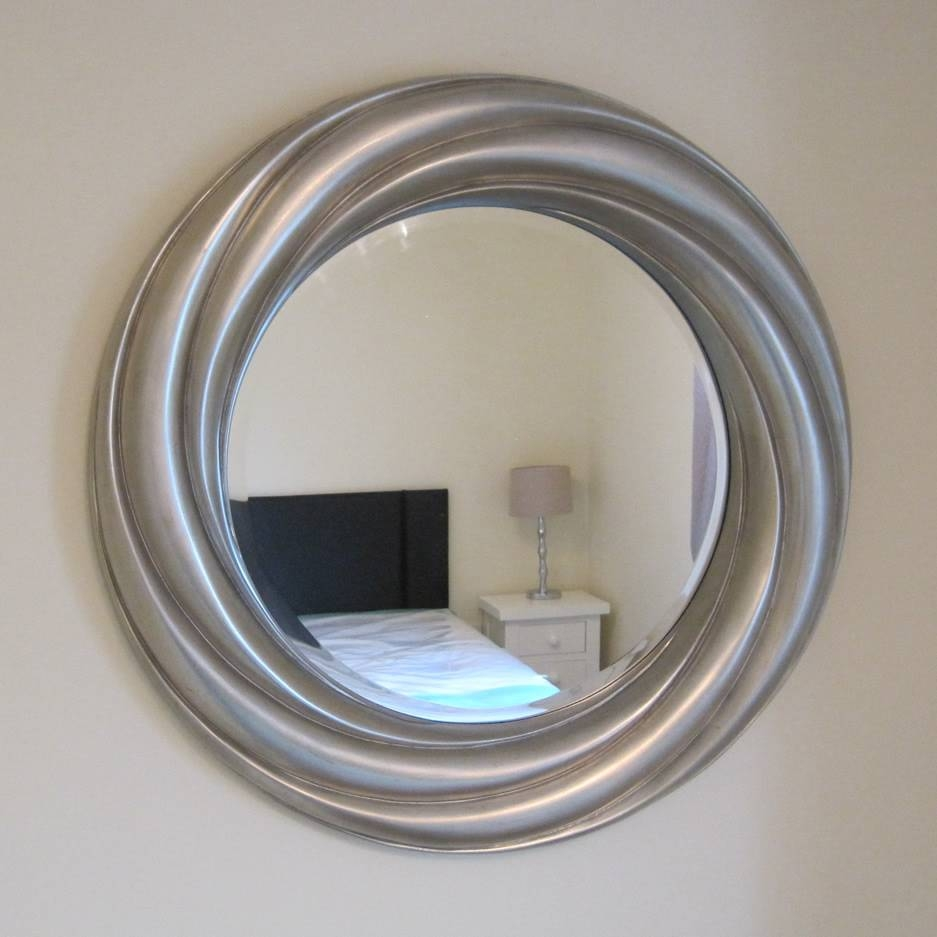 Round Silver Leaf Mirror | Mirrors.ie regarding Silver Round Mirrors (Image 9 of 15)