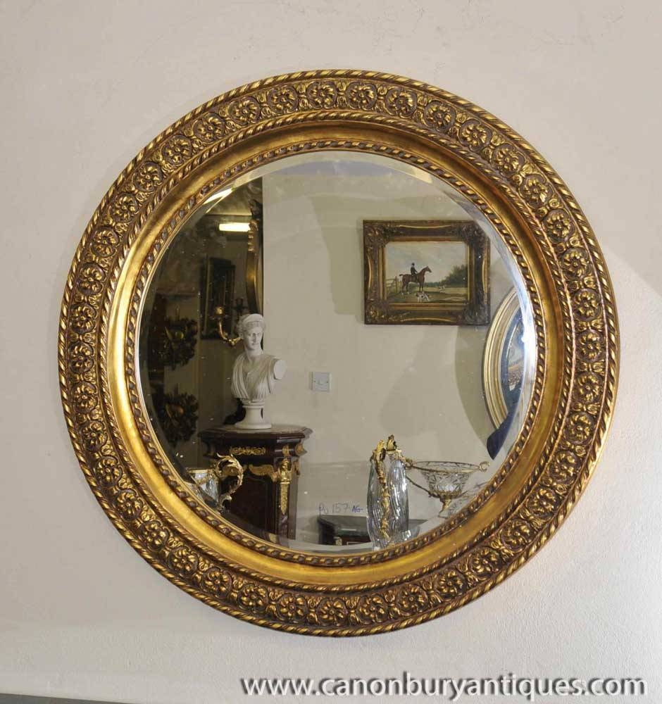 Featured Photo of Round Gilt Mirrors