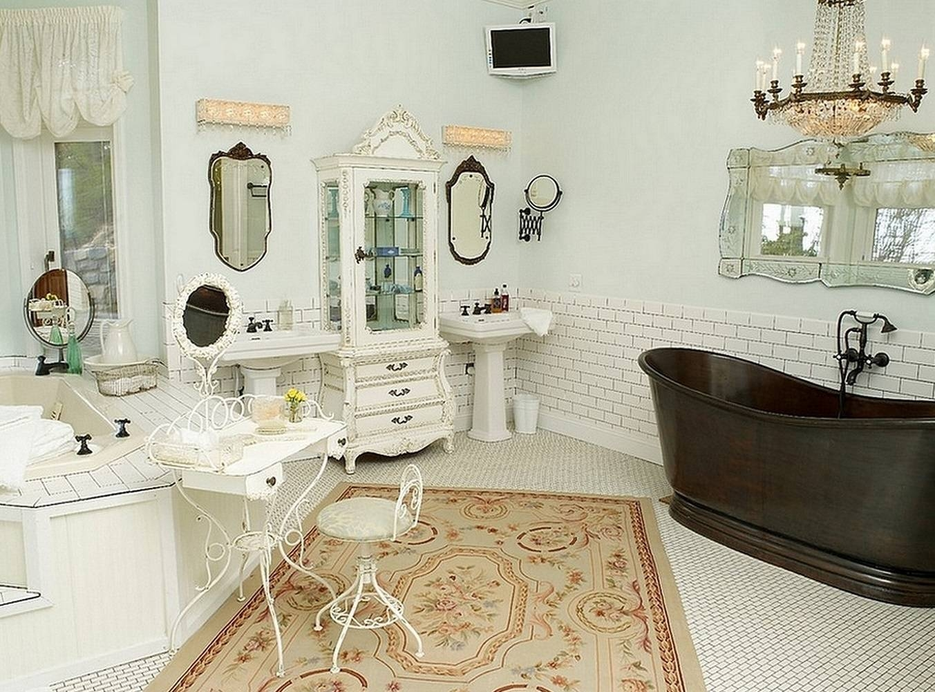 Shabby Chic Bathroom Rugs Ideas Intended For Shabby Chic Bathroom Mirrors (View 7 of 15)