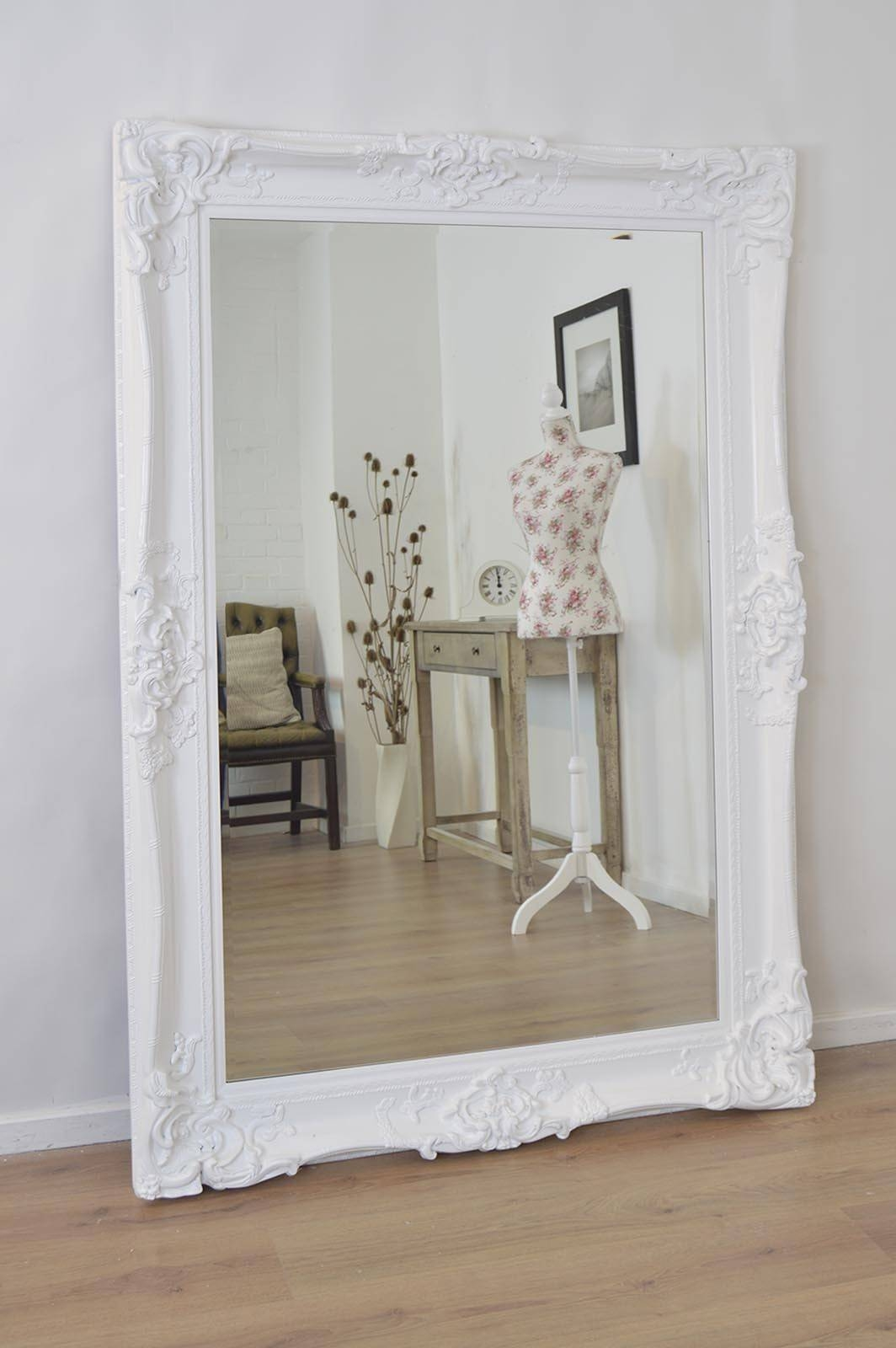 Shabby Chic Mirror Large – White Distressed Shabby Chic Mirror With Regard To Shabby Chic White Mirrors (View 12 of 15)