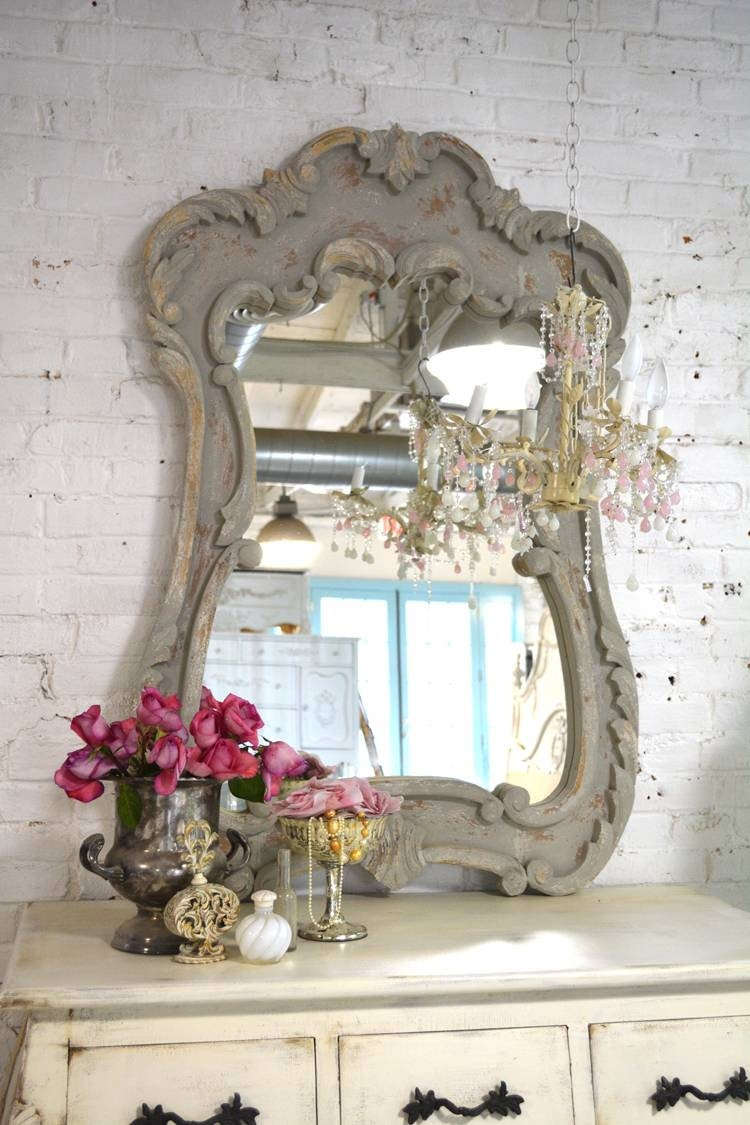 Shabby Chic Mirror pertaining to French Chic Mirrors (Image 15 of 15)