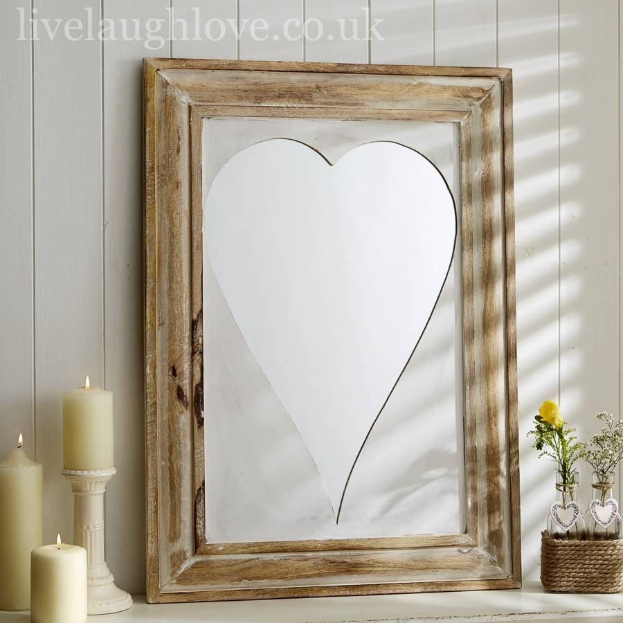 Shabby Chic Mirrors, Vintage Mirrors | Live Laugh Love For Large Heart Mirrors (View 14 of 15)
