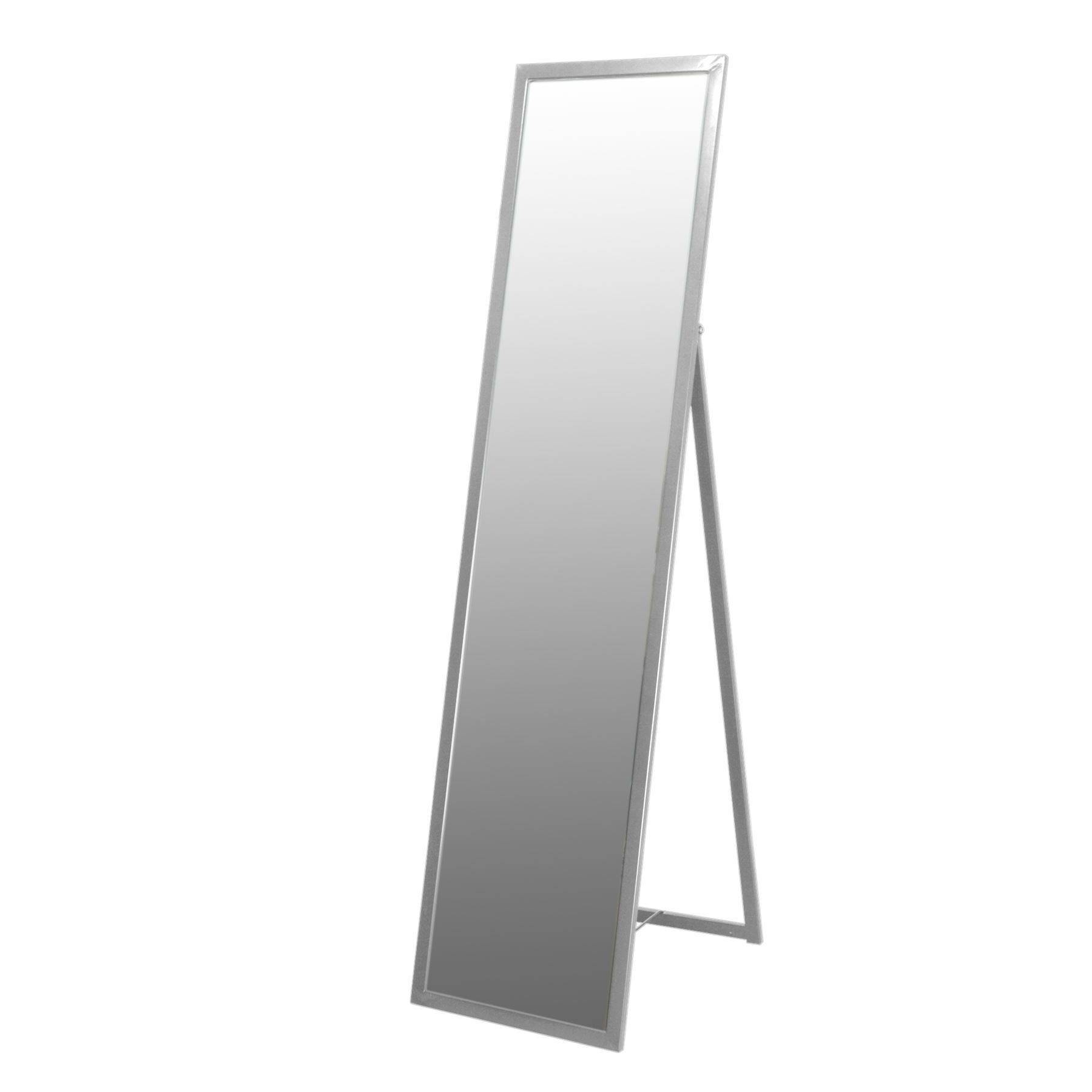 Shabby Chic Ornate Silver Free Standing Full Length Wall Mirror with Free Standing Shabby Chic Mirrors (Image 15 of 15)