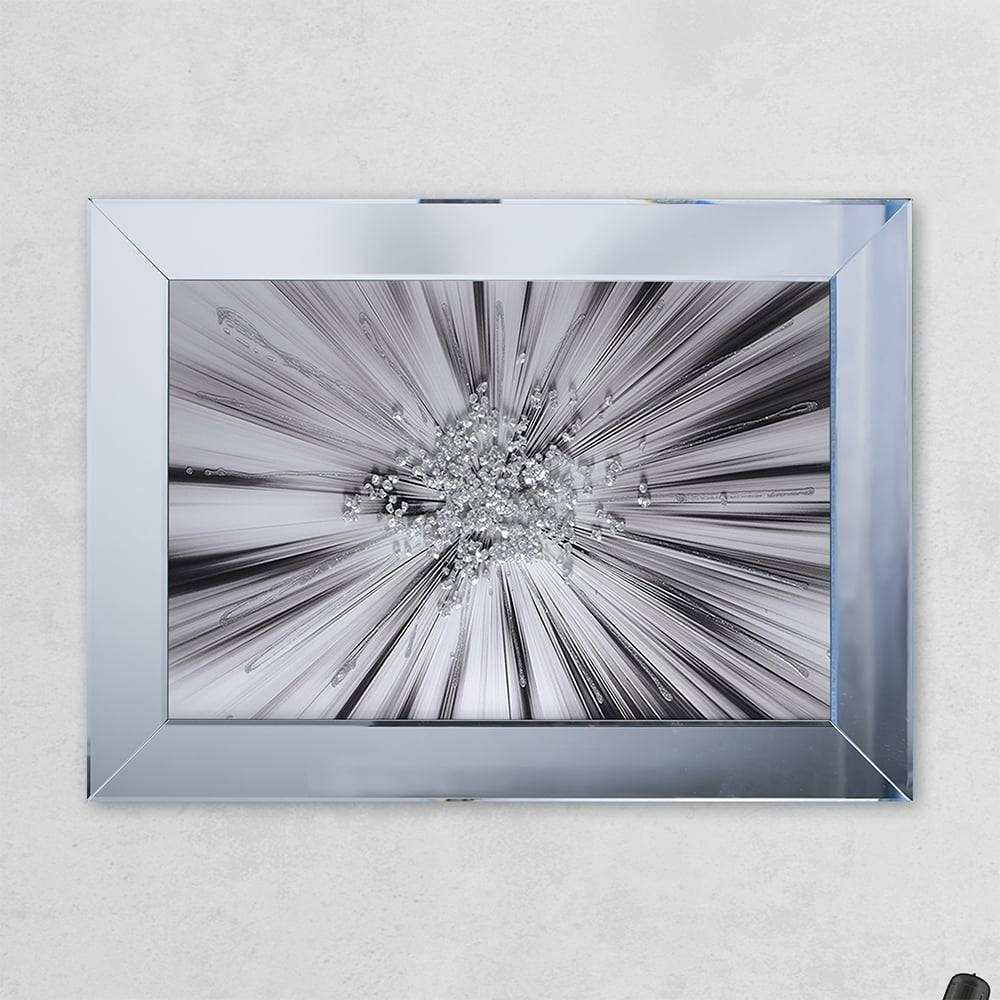 Shh Interiors Silverblast Glass Print Mirror With Liquid Glass And Pertaining To Liquid Glass Mirrors (View 1 of 15)