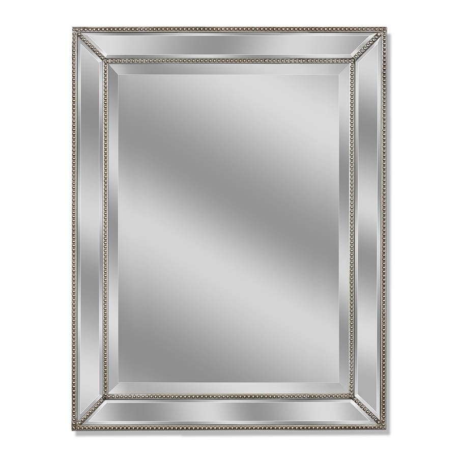 Shop Allen + Roth Silver Beveled Wall Mirror At Lowes inside Bevel Mirrors (Image 11 of 15)