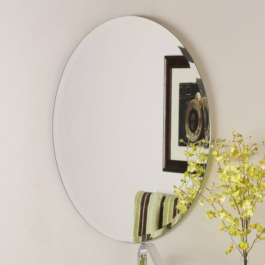 Shop Decor Wonderland Odelia 22 In X 28 In Oval Frameless Bathroom Throughout Bevelled Oval Mirrors (View 11 of 15)